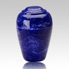 Grecian Cobalt Marble Cremation Urn