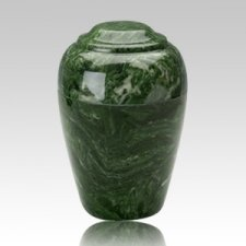 Grecian Emerald Marble Cremation Urn