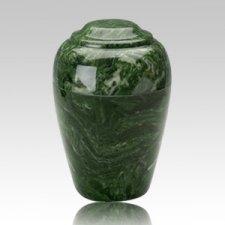 Grecian Emerald Marble Cremation Urn