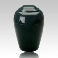 Grecian Sea Holly Green Granite Cremation Urn