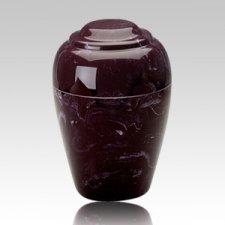 Grecian Merlot Marble Cremation Urn