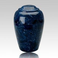 Grecian Navy Marble Cremation Urn