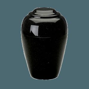 Grecian Orca Black Granite Cremation Urn