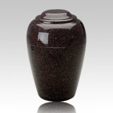 Grecian Vintage Red Granite Cremation Urn