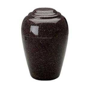 Grecian Vintage Red Granite Cremation Urn