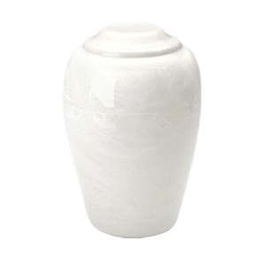 Grecian White Marble Cremation Urn
