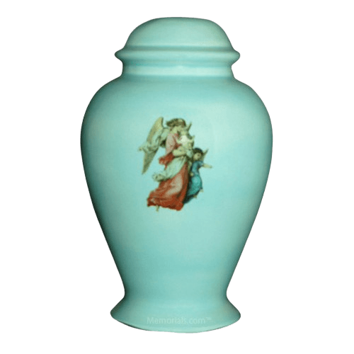 Angel Blue Child Cremation Urn