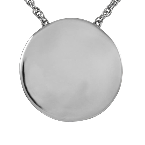 Circle Round Cremation Pendant