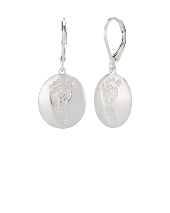 Earrings Footprint Sterling Keepsake
