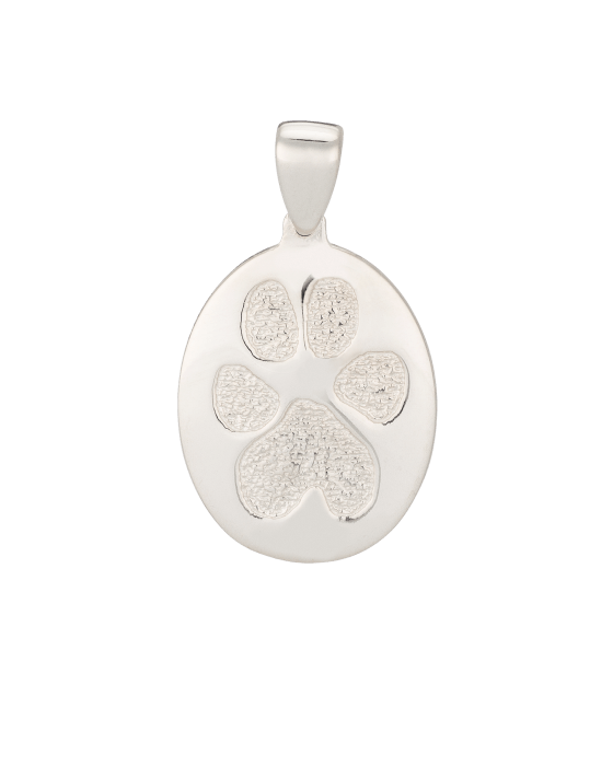 Pet Paw Print Keepsake Pendants