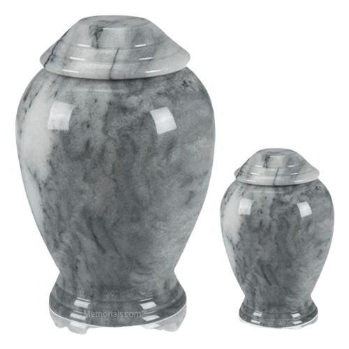 Grey Classica Marble Cremation Urns