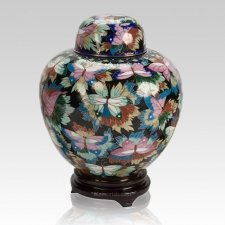 Black Copper Cloisonne Cremation Urn