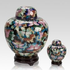 Black Copper Cloisonne Cremation Urns