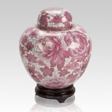 Rose Copper Cloisonne Cremation Urn