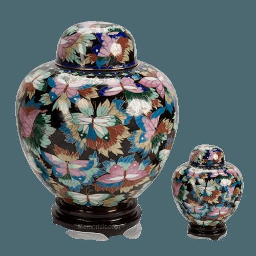 Black Copper Cloisonne Cremation Urns