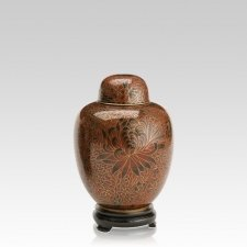 Crimson Medium Cloisonne Urn
