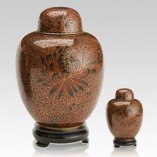Crimson Cloisonne Cremation Urns