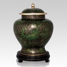Emerald Green Large Cloisonne Urn