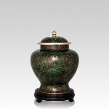 Emerald Green Medium Cloisonne Urn