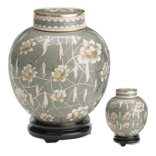 Pear Blossom Cloisonne Cremation Urns