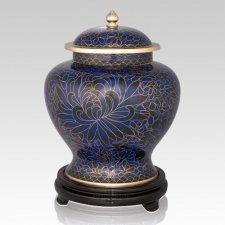 Royal Blue Large Cloisonne Urn