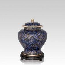 Royal Blue Medium Cloisonne Urn