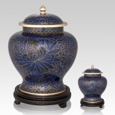 Royal Blue Cloisonne Cremation Urns