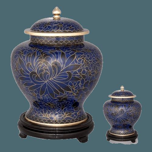 Royal Blue Cloisonne Cremation Urns