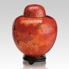 Fall Leaf Large Cloisonne Urn