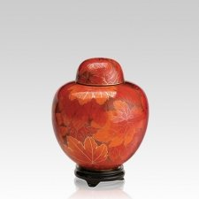 Fall Leaf Medium Cloisonne Urn