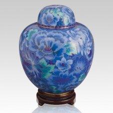 Azure Blue Large Cloisonne Urn