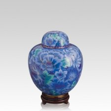Azure Blue Medium Cloisonne Urn