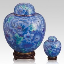 Azure Blue Cloisonne Cremation Urns