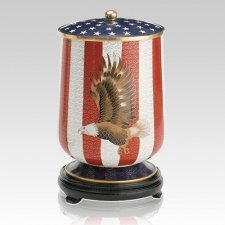 Patriot Large Cloisonne Urn