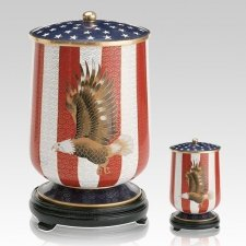Patriot Cloisonne Cremation Urns