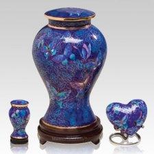 Indigo Butterfly Cloisonne Cremation Urns