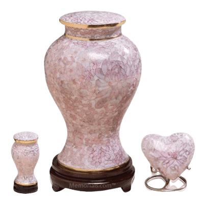 Rose Blush Cloisonne Cremation Urns