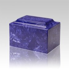Cobalt Marble Medium Urn