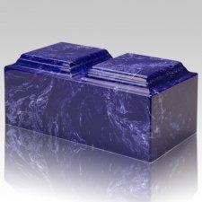 Cobalt Marble Companion Cremation Urn