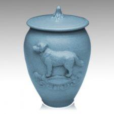 Doggy Sapphire Blue Ceramic Cremation Urn