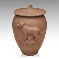 Doggy Hannah Brown Ceramic Cremation Urn