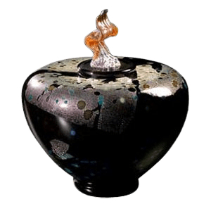 Como Blackolodas Glass Cremation Urn