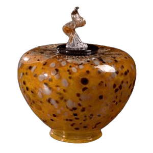 Como Verdigris Glass Cremation Urn