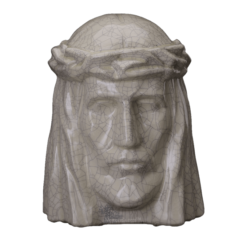 Christ Crackled Cremation Urns