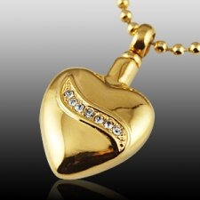 Crystal Swirl Heart Cremation Jewelry II
