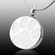 Pet cremation keepsake urn necklace pendants for pets purity paw print cremation jewelry aloadofball Choice Image