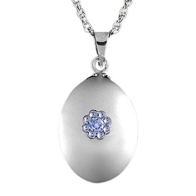 Diamond Oval Keepsake Pendant