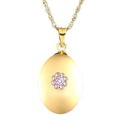 Diamond Oval Keepsake Pendant II