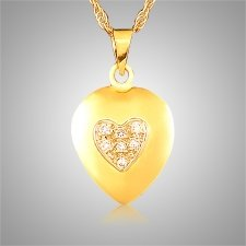 Diamond Heart on Heart Keepsake Jewelry
