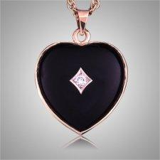 14k Gold Onyx Diamond Heart Keepsake Jewelry